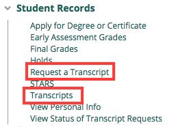 How do I access my transcript online? - Articles - C&IT