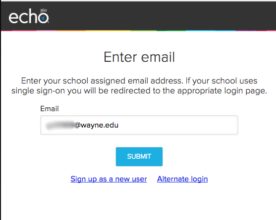 How do I log in to Echo360 lecture capture? - Articles