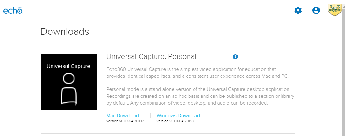 How do I download and use Echo360 Universal Capture