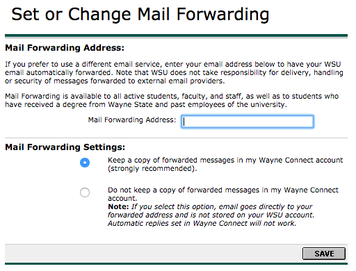 How do I forward my WSU email to an external email address