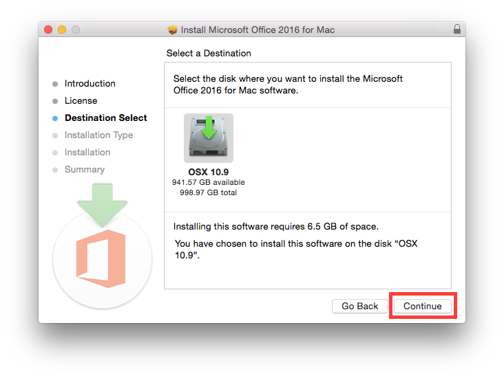 How do I install my free download of Microsoft Office on my