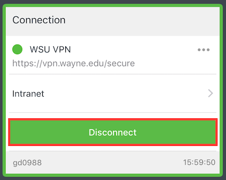 How do I access the WSU Virtual Private Network (VPN) on iOS devices