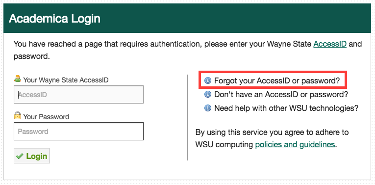 How do I get into my Wayne State account (for email, Canvas